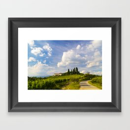 Sunset in the vineyards of Rosazzo Framed Art Print