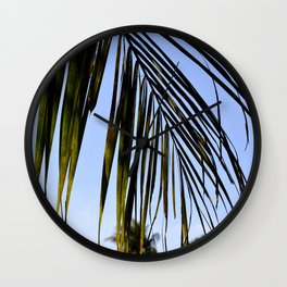 palm frond Wall Clock