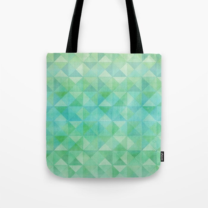 Green/Blue : Pattern Tote Bag