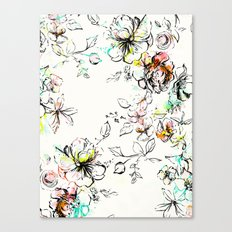 CAMP FLORAL Canvas Print