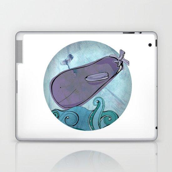 Eggplant Whale Laptop & iPad Skin