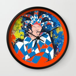 Harleqin plays his Flute           by Kay Lipton Wall Clock