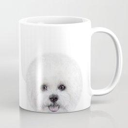 Bichon illustration, Dog illustration original painting print Coffee Mug