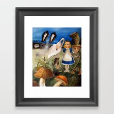 Bird Migration In Wonderland Framed Art Print