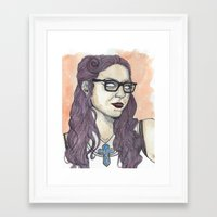 oitnb Framed Art Prints featuring Vause OITNB by Ashley Rowe