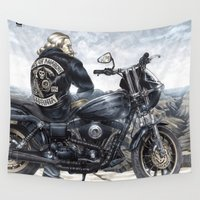 anarchy Wall Tapestries featuring Son of Anarchy by Peejay Catacutan