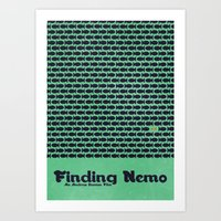 finding nemo Art Prints featuring Finding Nemo by Matt Bacon