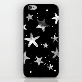 NOIR STARFISH PATTERN iPhone Skin