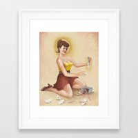 swag Framed Art Prints featuring #swag by Demian Crownfield