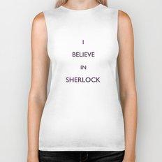 No. 4. I Believe In Sherlock Biker Tank