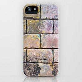 Brick Mason Masonry Old Wall Cuba Distressed Vintage Chippy Paint Caribbean Abstract Decor iPhone Case