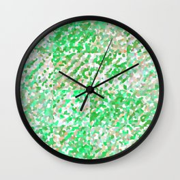 Green & Orange Delight (Squares) Wall Clock