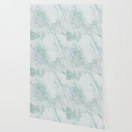 Marble Love Mint Metallic Wallpaper