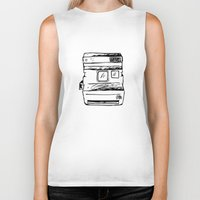 polaroid Biker Tanks featuring polaroid by brittcorry