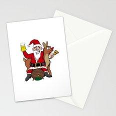 Drunken Santa Color Stationery Cards