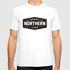 Great Northern Lake White Mens Fitted Tee SMALL