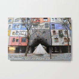 Hundertwasserhaus Metal Print