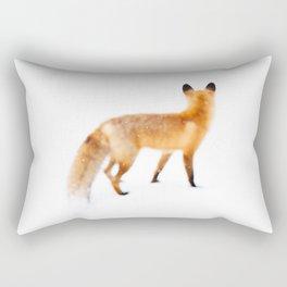 Fox in Snow Rectangular Pillow
