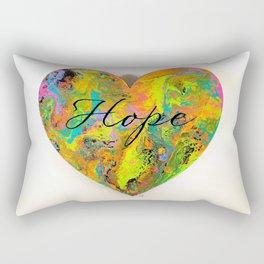 Hope Tie Dye Heart Rectangular Pillow
