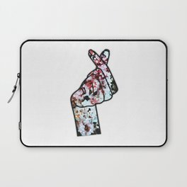 Love Finger Snap Crystals Laptop Sleeve