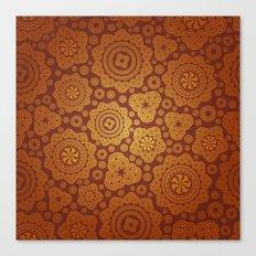Warm Gold Paisley Pattern Canvas Print