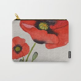 Watercolour Poppies Carry-All Pouch