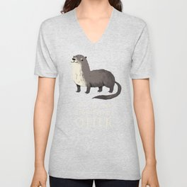 this is my significant otter Unisex V-Neck