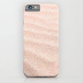 Sand waves - rose quartz iPhone Case