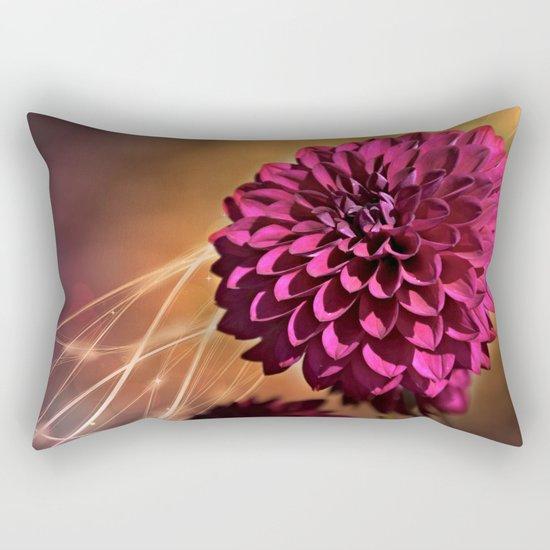 Red dahlia light effect Rectangular Pillow