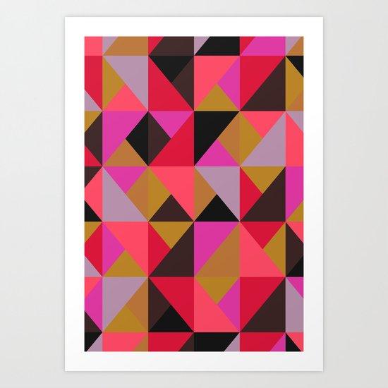 colour + pattern 19 Art Print