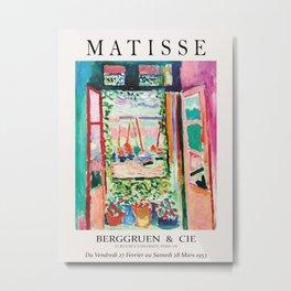 Henri matisse - Outside window Metal Print
