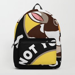 Not Your Mom Not Your Milk Vegan Gift Backpack