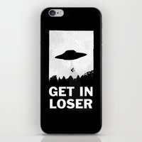 rose iPhone & iPod Skins featuring Get In Loser by moop