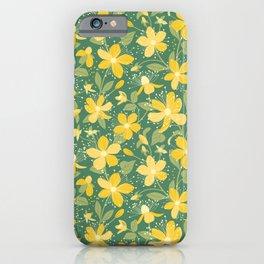 Wildflowers. St. John's wort pattern  iPhone Case