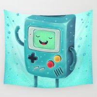 bmo Wall Tapestries featuring Game Beemo by Lime