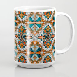 Seamless Floral Pattern Ornamental Tile Design  3 - Red Coffee Mug