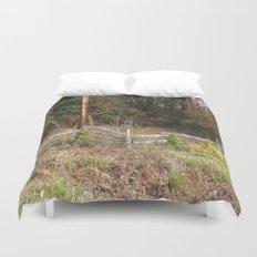 Three bird houses  Duvet Cover