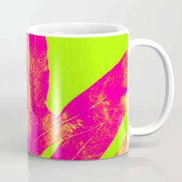 Green and Ultra Bright Coral Fern Coffee Mug