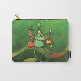 Christmas Decorations for a Frog Carry-All Pouch