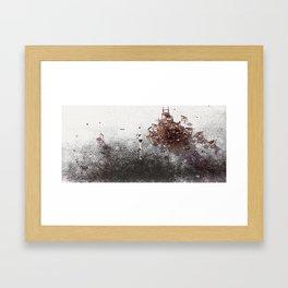 over the hill Framed Art Print