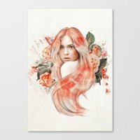 karen hallion Canvas Prints featuring Karen Gillan by jassinta