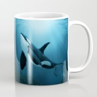 orca Mugs featuring The Dreamer  ~ Orca ~ Killer Whale by Amber Marine
