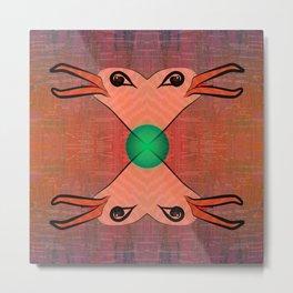 Green Kiss / Love / Pattern 12-01-17 Metal Print
