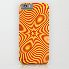 Red and Yellow Spiral illusion art iPhone Case