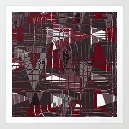 Land of Red Art Print