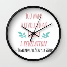 THE SCHUYLER SISTERS | HAMILTON Wall Clock