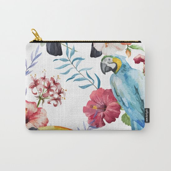 Tropical Bird Pattern 01 Carry-All Pouch