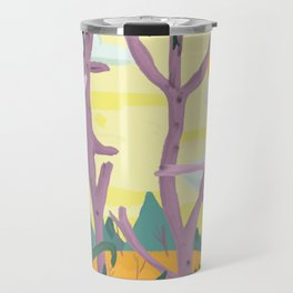 The trees surrounded me and I could see straight through them Travel Mug