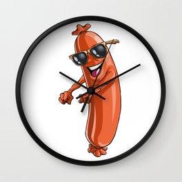 Sausage Floss Party Yummy Oktoberfest German Wall Clock