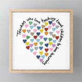 Hearts Heart Teacher Framed Mini Art Print